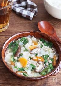 『給食メニューで大人気!包まず簡単♪ワンタン風スープ』