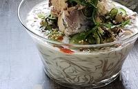5分レシピ♪火不要★切って揉んで混ぜて丸ごとサバ缶サッパリ麺