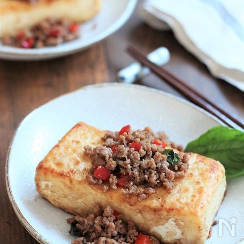 ナンプラーなしで作る。ガパオ風豆腐ステーキ