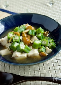 『【10分】くずし豆腐のなめこオクラあんかけ』