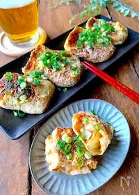 『【おうち居酒屋】納豆×キムチ×長芋のカリッとお揚げ焼き』