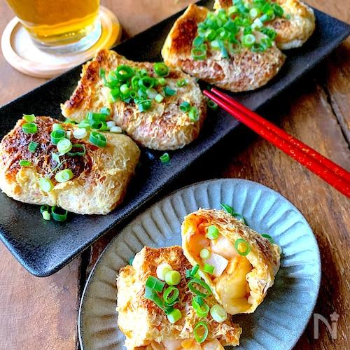 【おうち居酒屋】納豆×キムチ×長芋のカリッとお揚げ焼き