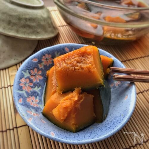 【レンジ調理】味付け1つ♡時短♡簡単♡カボチャの煮物♡