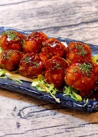 『【丸めて焼くだけの簡単レシピ!!】韓国風豚こまボール』