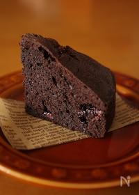 『超簡単に本格的!チョコレートケーキ』