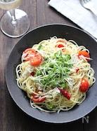 しらすとミニトマトのペペロンチーノ