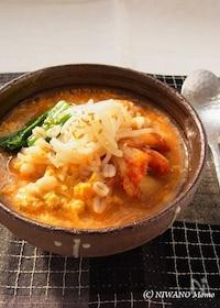 『押し麦のとろふわキムチ粥(かゆ)』