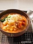 押し麦のとろふわキムチ粥(かゆ)