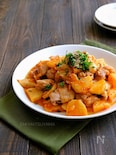【免疫力アップ応援】長芋と鶏肉のキムチマヨ炒め