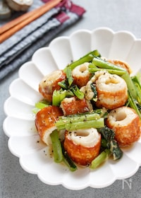 『小松菜とちくわのペッパーチーズソテー【#作り置き #お弁当】』