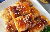 カロリー控えめの満足おかず『肉巻き豆腐のぽん酢照り焼き』