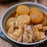 時間差調理でお肉柔らか!*大根と鶏肉の煮物*めんつゆ使用