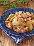 海苔の佃煮で簡単!*新じゃがと鶏肉の海苔バター炒め*