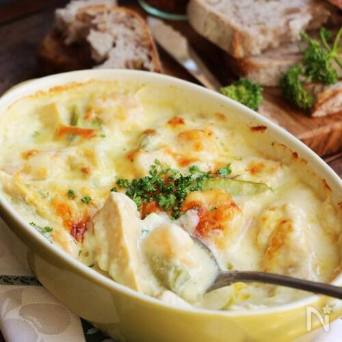 エビと筍のチーズ焼き