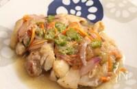 水晶鶏のオクラあん煮