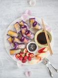 パプリカと紫キャベツの生春巻き
