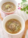 アツアツが嬉しい!キャベツとひき肉のあんかけ中華スープ