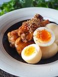 【酢の効果でお肉ほろほろ】鶏手羽元とゆで卵のさっぱり黒酢煮
