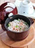 【STAUB】たらこと枝豆の炊き込みご飯