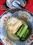 だしと塩のみ!小松菜と油あげとえのきの煮浸し