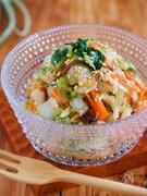 抱えて食べたい♪『梅塩昆布 de やみつき♡白菜サラダ』