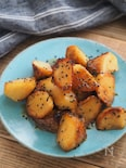 焼き芋から作る揚げない大学芋【皮なしで子どもにも♪油少な目】