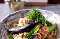 ボリュームおかず!茄子と豚薄切り肉の生姜焼き