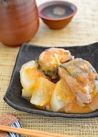 『【レンジで簡単】サバ缶と大根の味噌煮』