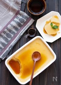 『【フライパン調理】カラメル不使用!焼き芋と豆乳の蒸しプリン』