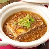 肉の旨味が際立つ♪ピリ辛肉味噌あんかけ豆腐