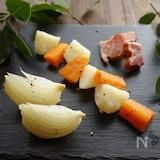 ローリエ香る根菜の蒸し煮