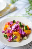 クミンの香りが食欲そそる♡彩り野菜で栄養満点☆モロカンサラダ