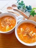 3分❣️一番簡単な作り方♡ふわふわ卵入りキムチスープ