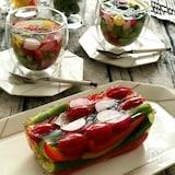 美味しい『だしプレッソ』で♪カラフル野菜の和風グラステリーヌ
