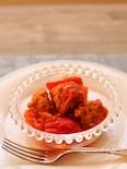 鶏ボールとパプリカのトマト煮込み