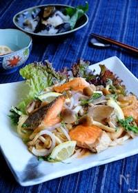 『揚げない☆秋鮭とどっさりキノコの南蛮漬け!【寿司酢】』