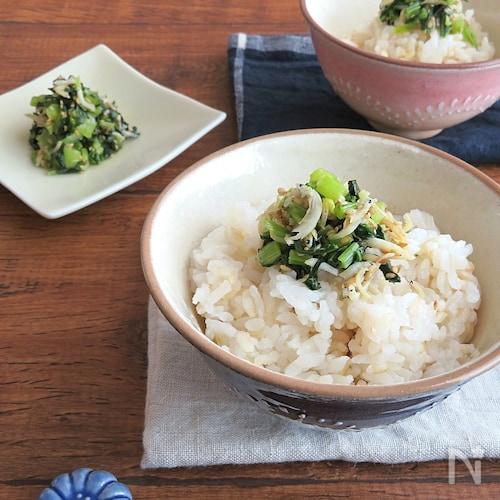 白だしで簡単☆食欲そそる◎小松菜とおじゃこのふりかけ
