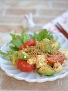 アボカドと豆腐のカリカリしらすサラダ