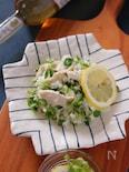 レモン香るサラダチキンと豆苗のさっぱりごはん
