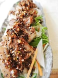 豚バラ肉の焦し葱醤油焼き