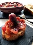 合格祈願に「おくとパス」なタコのトマト煮