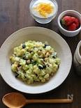 春野菜とお豆のコンポタスプーンサラダ。