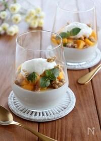 『ココナッツプリンとマンゴーのパフェ』