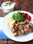 豚肉のスブラキ (ギリシャ風 串焼き肉)