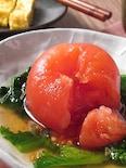 丸ごとトマトと菜の花のお浸し
