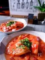 \フライパンに入れるだけ/赤魚とソーセージと豆のトマト煮
