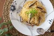 豆苗とオイルサーディンのペペロンチーノ