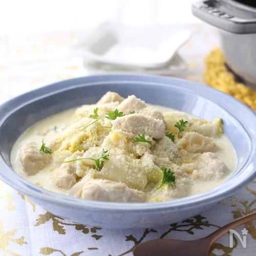 白菜と鶏むね肉のクリーム煮