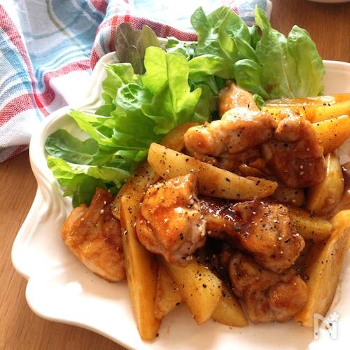 子供も喜ぶ・超超オススメ簡単♡鶏もも肉とじゃがいもの中華炒め