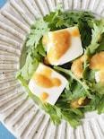 春菊と湯豆腐のゆずみそがけ
